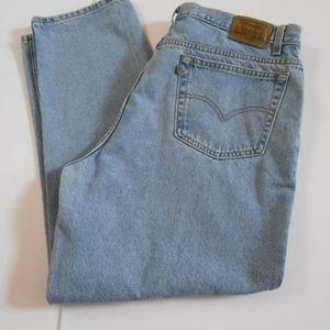 Levi's Mens 40x29 Brown Tab 545 Loose Fit Jeans
